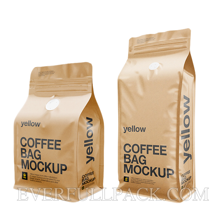 We Also Provide Custom Printed Coffee Bags With The Help Of Using Lastest Rotogravure Printing Which Is Up To 10 Colors And Could Be Matte Glossy